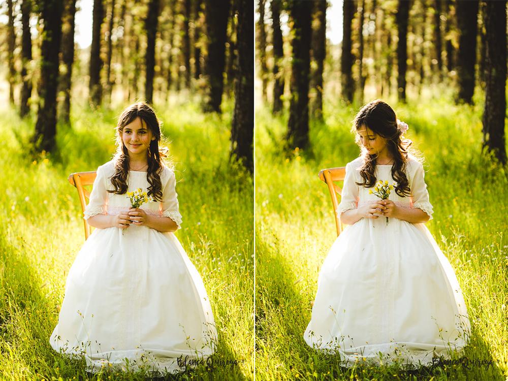 Blanca Quiroga. Fotografo comunion en el campo sevilla.