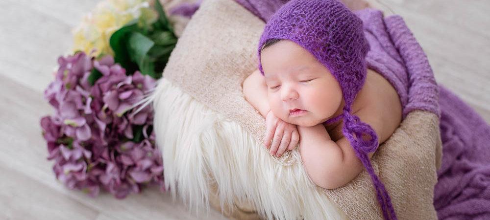Fotografía de recién nacido en Sevilla. Newborn con 9 días.