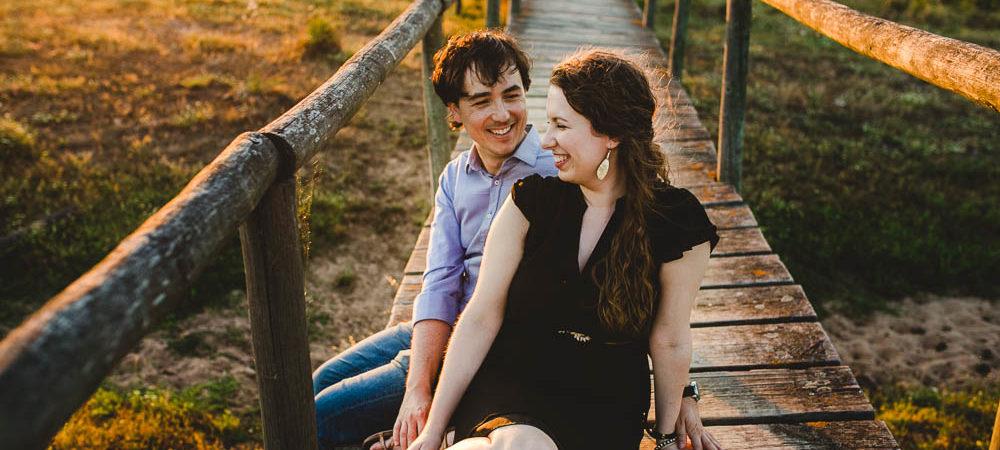 Fotografía de boda en Sevilla. Preboda Lauren + Gonzalo en el campo.