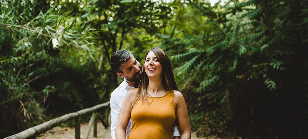 Fotografía de embarazo en el parque de Oromana. Sevilla.