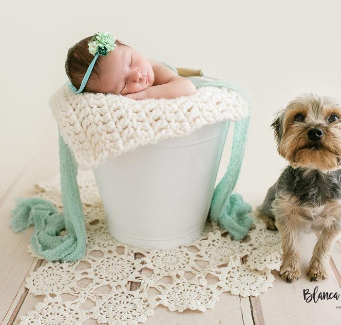 Fotografía de recién nacido en Sevilla. Newborn bebé 12 días.