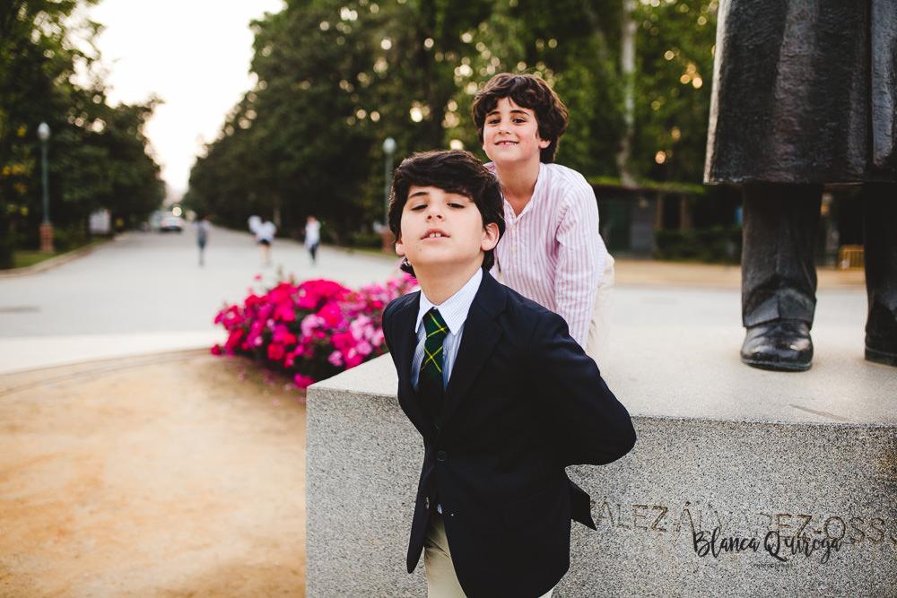 Blanca Quiroga. Fotografia comunion plaza de España. Sevilla.