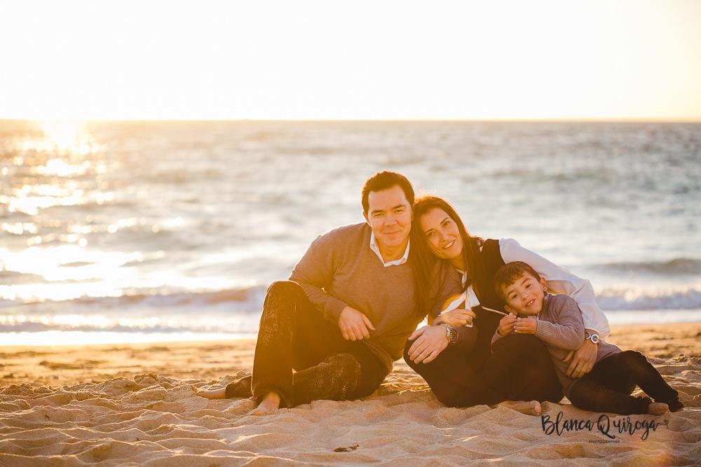 Blanca Quiroga. Fotografia de familia en la playa de Rota